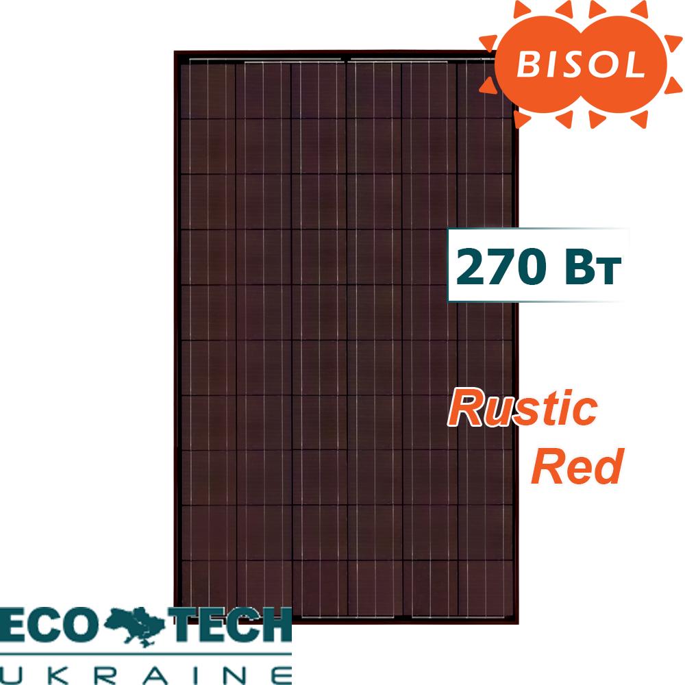 Солнечная батарея BISOL Spectrum Rustic Red 270 Wp поликристалл, цвет Красный Рустик