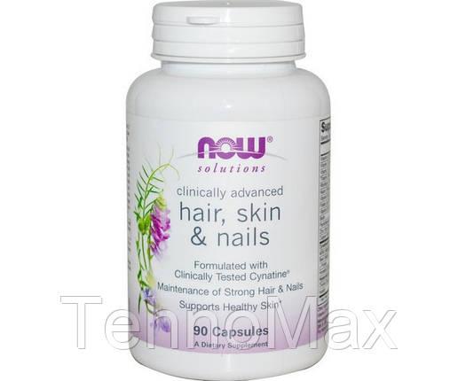 NOW Здоровье волос, кожи и ногтей Hair, Skin & Nails (90 caps), фото 2