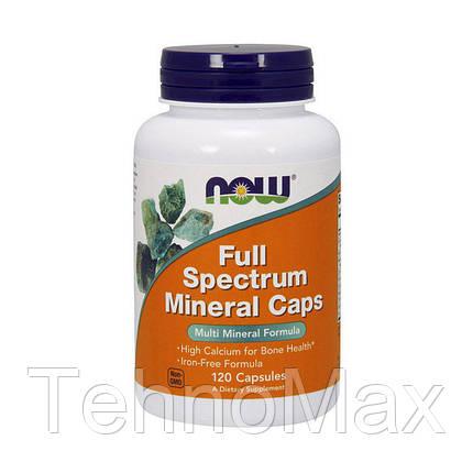 NOW Полный спектр Минералов Full Spectrum Minerals (120 caps), фото 2
