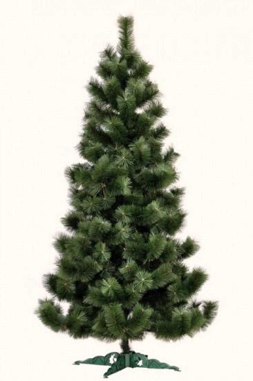 Штучна сосна 2,1 м, темна, світлий кінчик, новорічна сосна ялинка