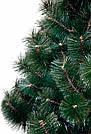 Штучна сосна 2,3 м, темна, світлий кінчик, новорічна сосна ялинка, фото 2