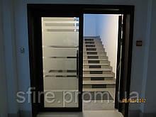 Двері протипожежні алюмінієві засклені EI 30