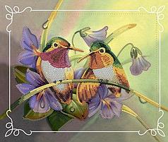 Набор для вышивки бисером Идейка Пара птиц (27496)