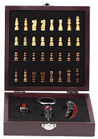 Винный набор с шахматами 18 см