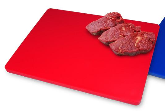Дошка обробна пластик червона 600*400*20 мм , Resto Line Іспанія
