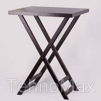 Триджек темно-коричневый со съемной крышкой 80 см, деревянный (Стенд для подносов официанта), фото 2
