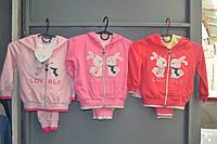 Спортивные трикотажные костюмы троечки для девочек 6/9-36 месяцев.Фирма SINCERE.Венгрия, фото 1