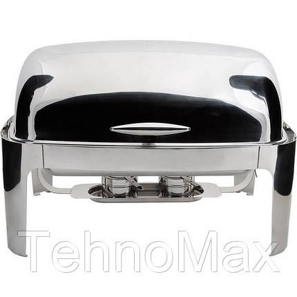 Чафиндиш для первых блюд 67х52х45 см. нержавеющая сталь Roll-Top DELUX, Stalgast, фото 2