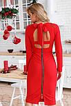 Красное облегающее платье с бантом, фото 4