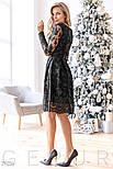 Элегантное платье-миди черного цвета, фото 2