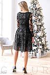 Элегантное платье-миди черного цвета, фото 3