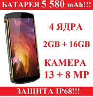 Blackview BV5800 батарея 5580mAh 2/16Gb 13/8MP IP68 защищенный противоударный и водонепроницаемый смартфон