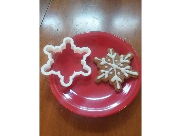 Новорічна вирубка Сніжинка. Новорічний каттер форми сніжинки