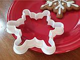 Новорічна вирубка Сніжинка. Новорічний каттер форми сніжинки, фото 2