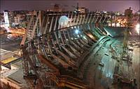 На дах київського стадіону підтягнуть ванти, вагою 765 тонн