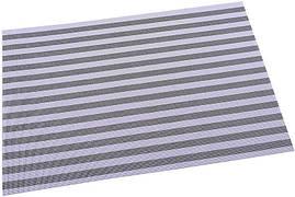 Килимок сервірувальний Renberg Vinyl Rug 30х45см, вініл, сіра смуга