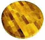 Доска разделочная торцевая круглая диаметр 300х35мм (Украина)