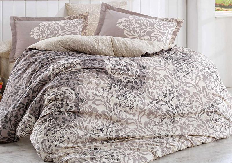 Комплект постельного белья Hobby 4717 Евро, поплин (100% хлопок)