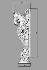 Заходной столб 3 - 1100х350х180 мм, фото 3