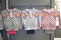 Трикотажные спортивные костюмы тройки для девочек.Размер 98-128.Фирма GOLOXY,Венгрия, фото 1