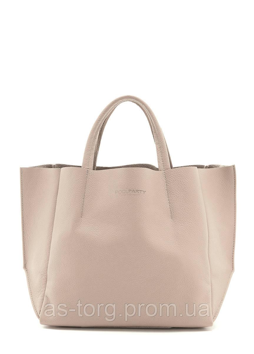 Бежевая кожаная сумка женская купить POOLPARTY - Интернет-магазин