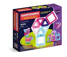 Magformers Магнитный конструктор 30 деталей розовый Inspire Set 30-pieces