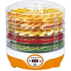 Сушилка для овощей и фруктов POLARIS PFD 0605D Оранжевый/Белый (ФР-00019737)