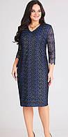 Платье Асолия-2388 белорусский трикотаж, темно-синий, 52