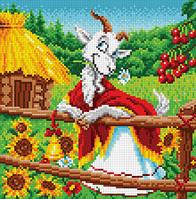 """БИС-9314 Рисунок на ткани для вышивки """"Козочка-коза"""""""