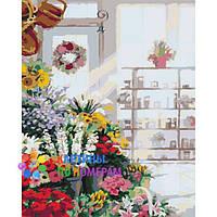 """Картины по номерам 40x40 """"В цветочном магазине"""" КНО2023"""