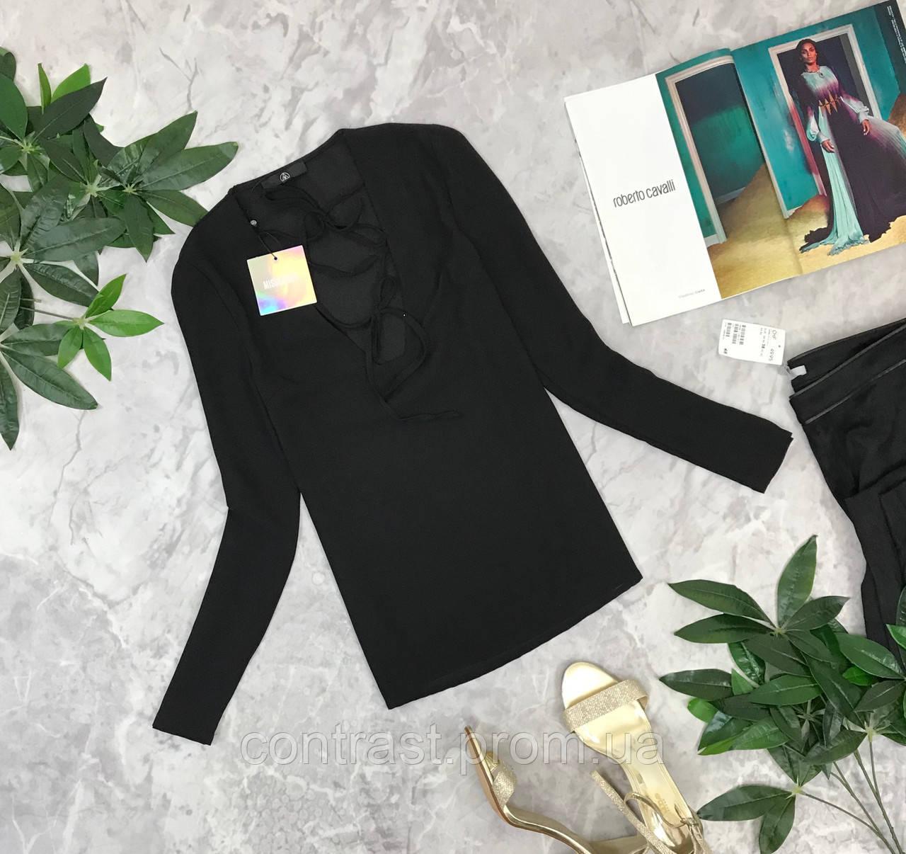 Пикантная блуза со шнуровкой в зоне декольте  BL1849015