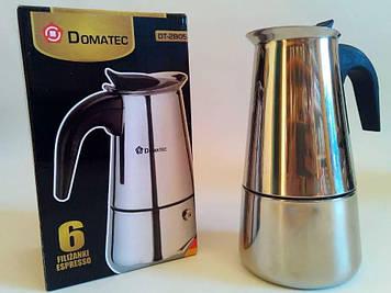 Кофеварка гейзерная Domotec DT-2805 (на 6 чашек)