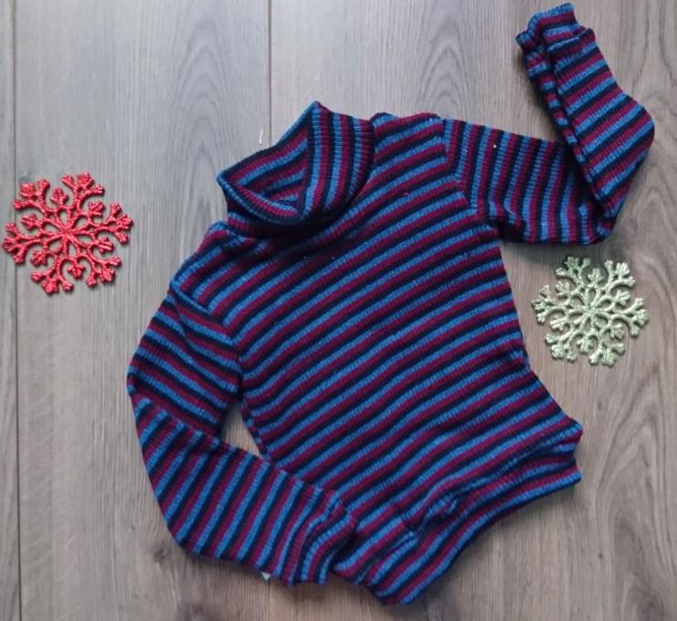 Зимний трикотажный свитер для мальчика в полоску 28-36 р a232d81278a5a