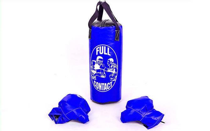 Боксерський набір дитячий (рукавички+мішок) S PVC UR BO-4675-S (мішок h-39см, d-14см, колір в асортименті)