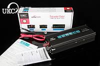 Преобразователь напряжения UKC Technology 1500W (инвертор 12/220В 1500Вт black series)
