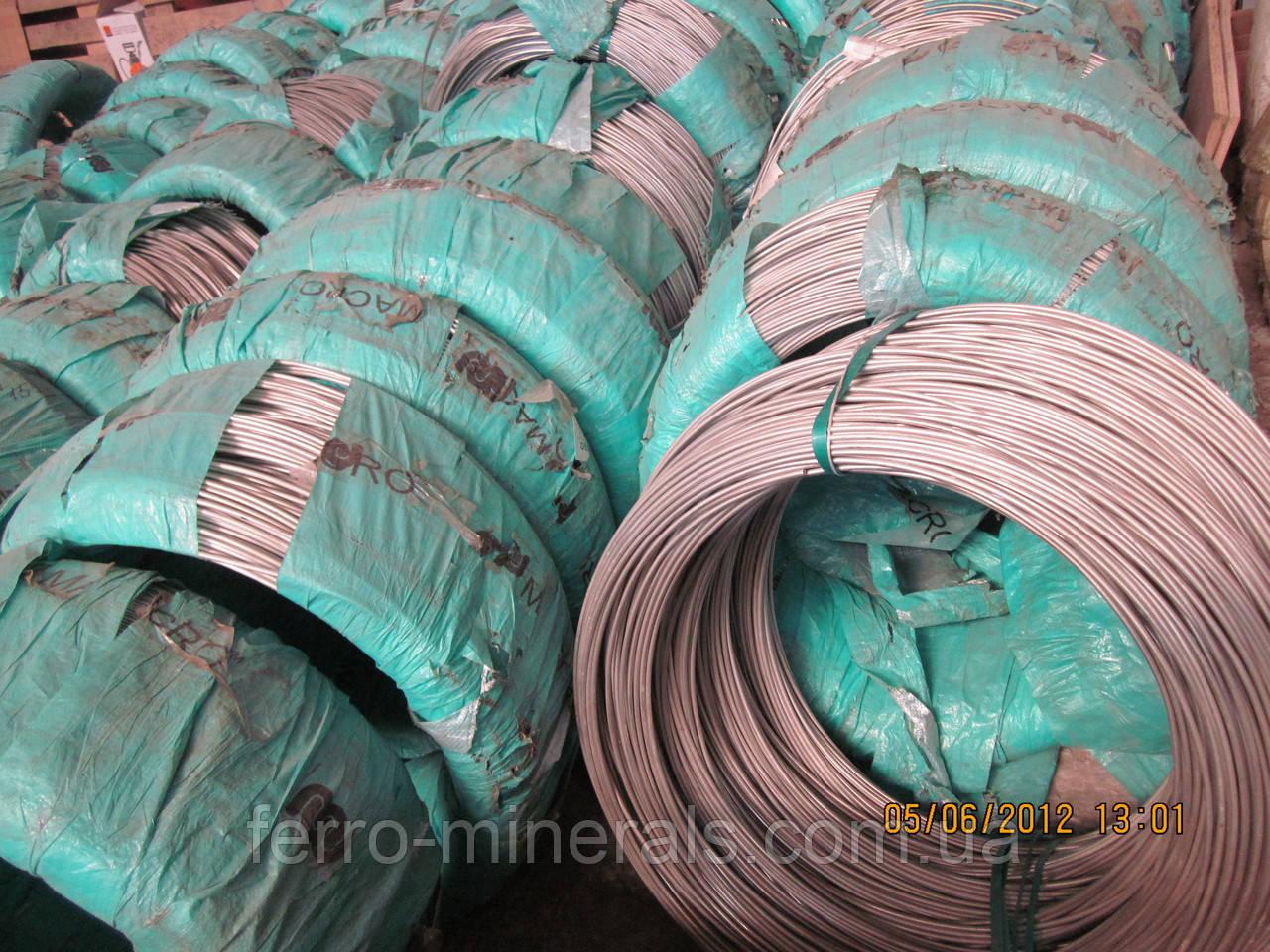 Нержавеющая проволока AISI 201, 12Х15Г9НД  5,6,7,8,9,10 мм