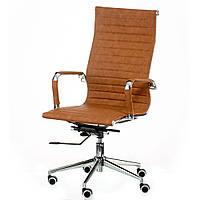 Кресло Солано артлейзер светло-коричневое