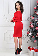 Платье срукавом буф, красное. Фото реальные!, фото 3