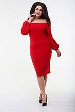 Платье срукавом буф, красное. Фото реальные!, фото 2