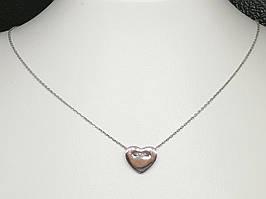 Серебряное колье Сердце. Артикул 908-00954