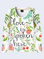 Лонгслив LOVE IS SPOKEN HERE, фото 1
