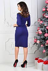 Платье мидис рукавом 3/4, индиго. Фото реальные., фото 3