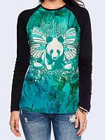Лонгслив-реглан Панда-бабочка, фото 1