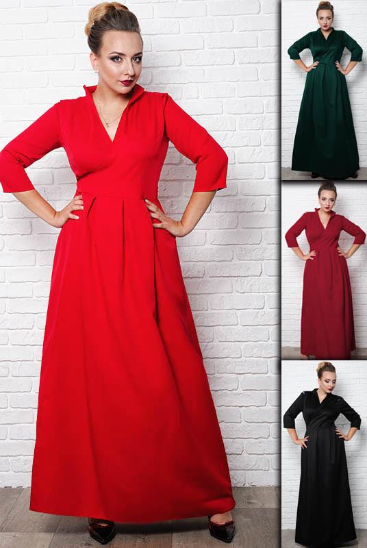 Длинное батальное  платье -Гарсия -