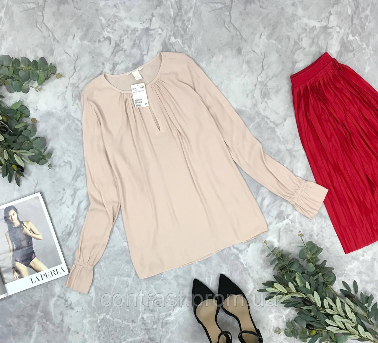 Шелковая блуза в нюдовом цвете  BL1849198