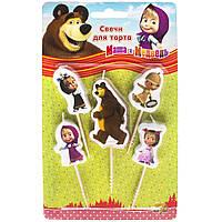 """Набір Свічок на паличці """"Маша і Ведмідь"""" 5шт"""