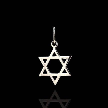 Серебряная подвеска Звезда Давида, фото 2