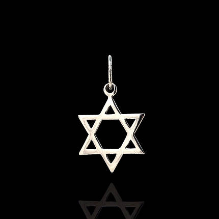 Срібна підвіска Зірка Давида, фото 2