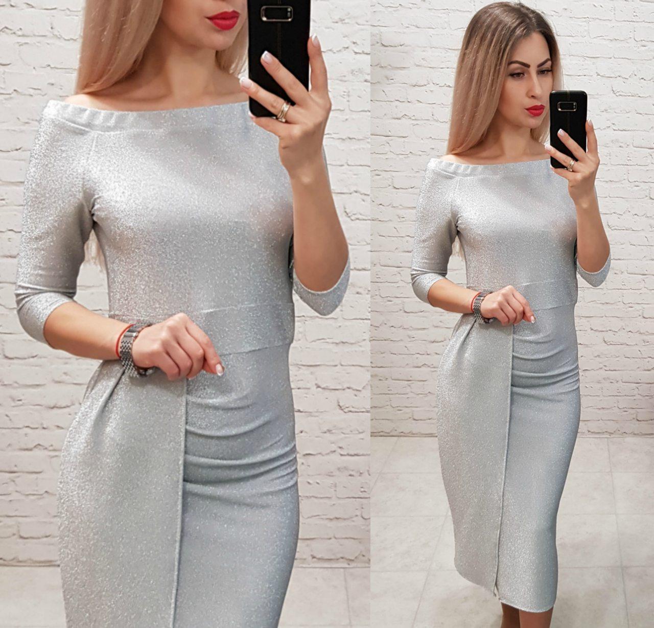 Платье нарядное, модель 824, цвет - белый