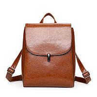 Рюкзак сумка (трансформер) городской женский из экокожи (коричневый), фото 1